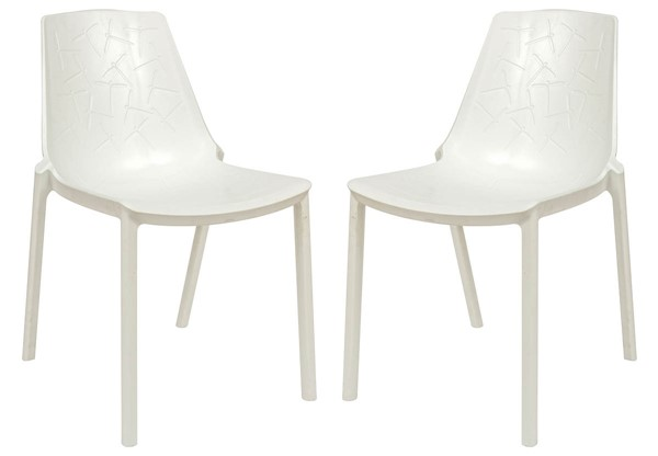Design Edge Crookwell 2  White Dining Chairs DE-22367071