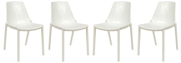 Design Edge Crookwell 4  White Dining Chairs DE-22367111