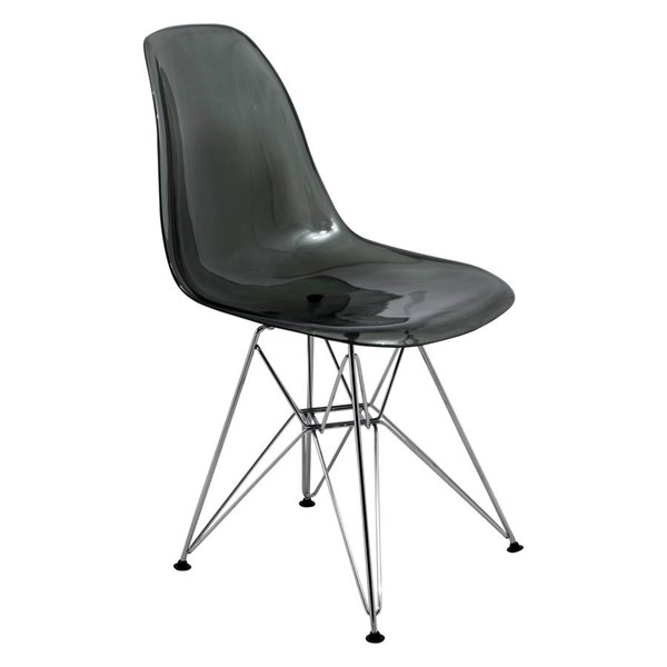 Design Edge Dareton 4  Transparent Black Molded Eiffel Side Chairs DE-22367496