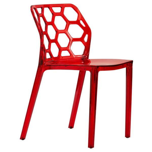 LeisureMod Dynamic Red Dining Chair LSM-DC19TR