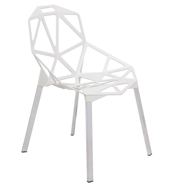 Design Edge Deepwater  White 3D Painted Iron Chair DE-22367801