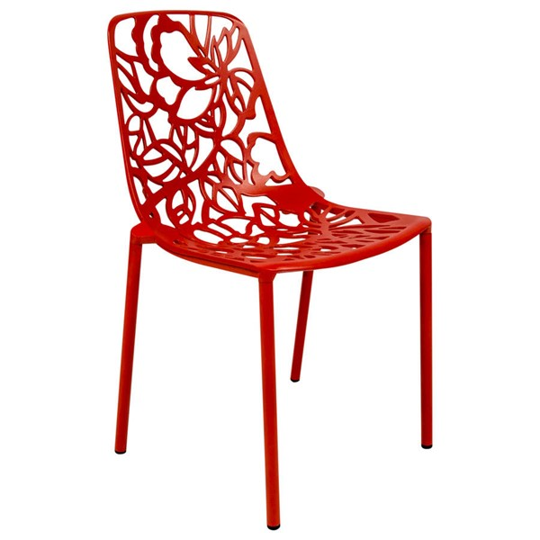Design Edge Delungra  Red Armless Chair DE-22367967