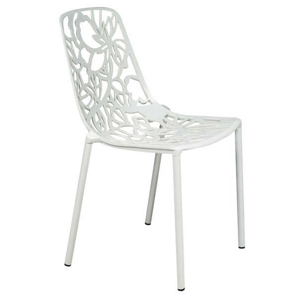 Design Edge Delungra  White Armless Chair DE-22367947
