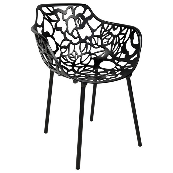 Design Edge Delungra  Black Arm Chair DE-22368087