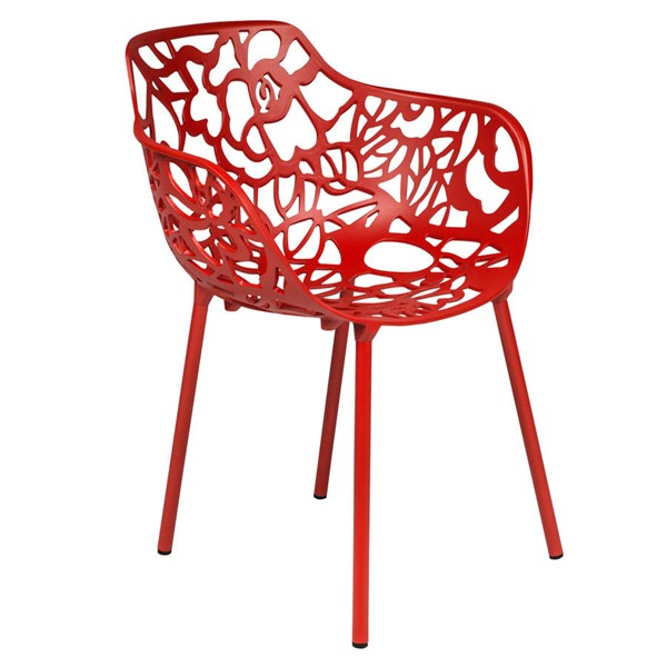 LeisureMod Devon Red Arm Chair LSM-DCA23R