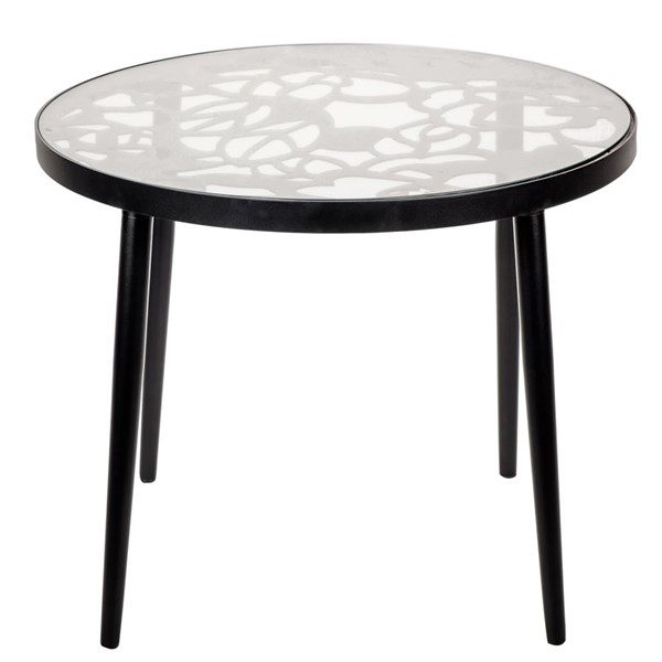 LeisureMod Devon Black Aluminum Outdoor End Table LSM-DT20BL