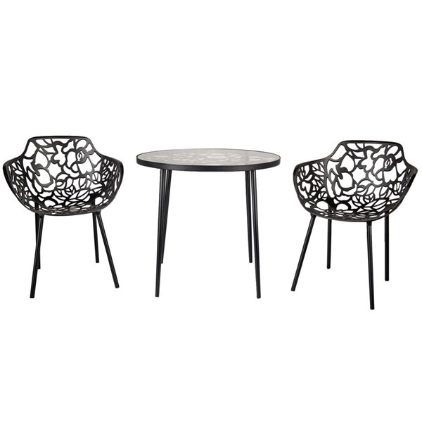 LeisureMod Devon 3pc Outdoor Dining Sets LSM-DT31-OD-DR-VAR