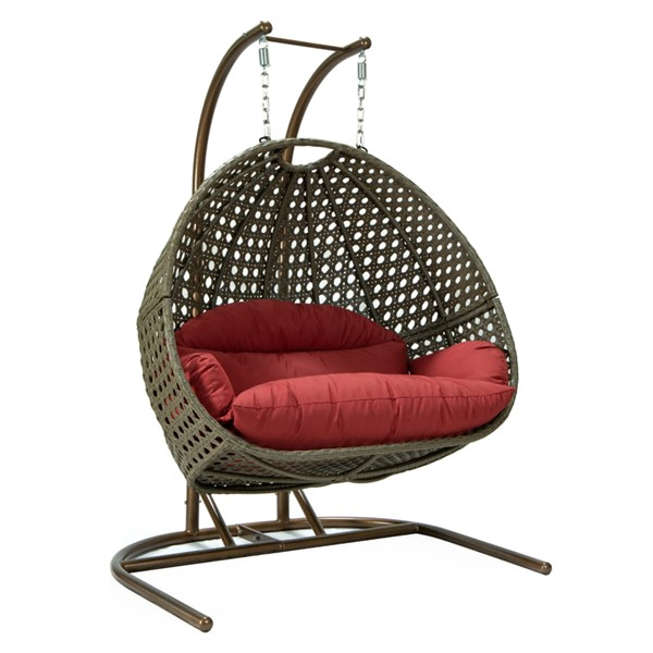 LeisureMod Egg Dark Red Swing Chair LSM-EKDBG-57DR