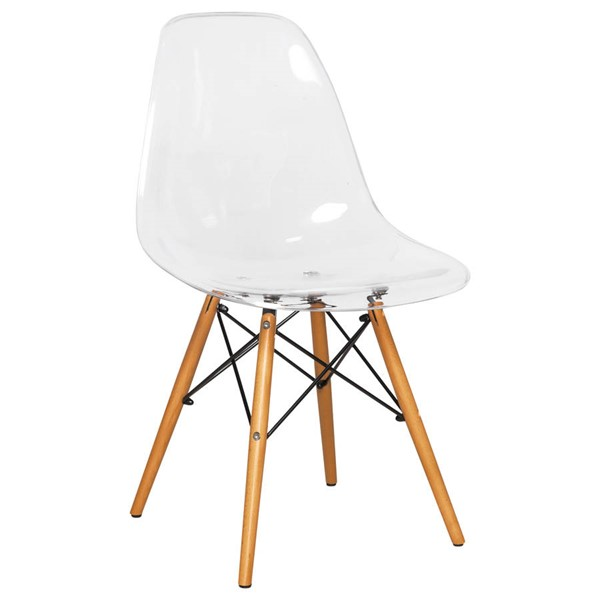 Design Edge Deniliquin  Clear Molded Side Chair DE-22368242