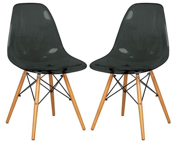 Design Edge Deniliquin 2  Transparent Black Molded Side Chairs DE-22819672