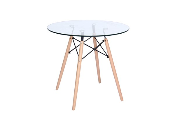 Design Edge Deniliquin  Clear Round Bistro Dining Table DE-22819752