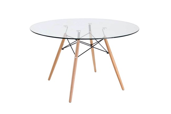 Design Edge Deniliquin  Clear Round Dining Table DE-22819792