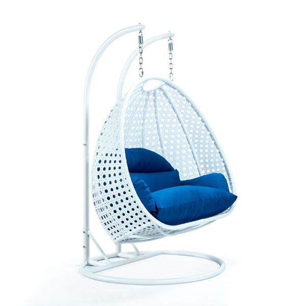 LeisureMod Egg Metal 2 Person Hanging Swing Chairs LSM-ESCW-57-OUTDOOR-CH-VAR