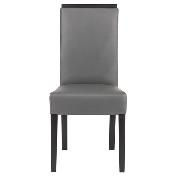 Design Edge Eugowra 2  Grey Faux Leather Dining Chairs DE-22368901