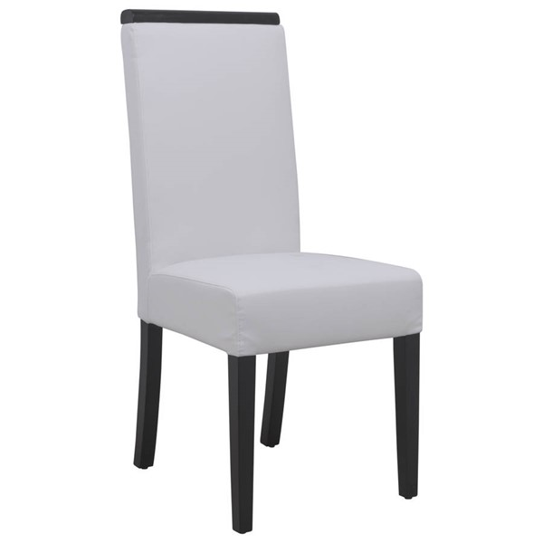 Design Edge Eugowra  White Faux Leather Dining Chair DE-22368861