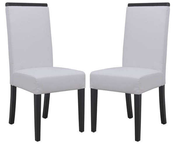 Design Edge Eugowra 2  White Faux Leather Dining Chairs DE-22368891