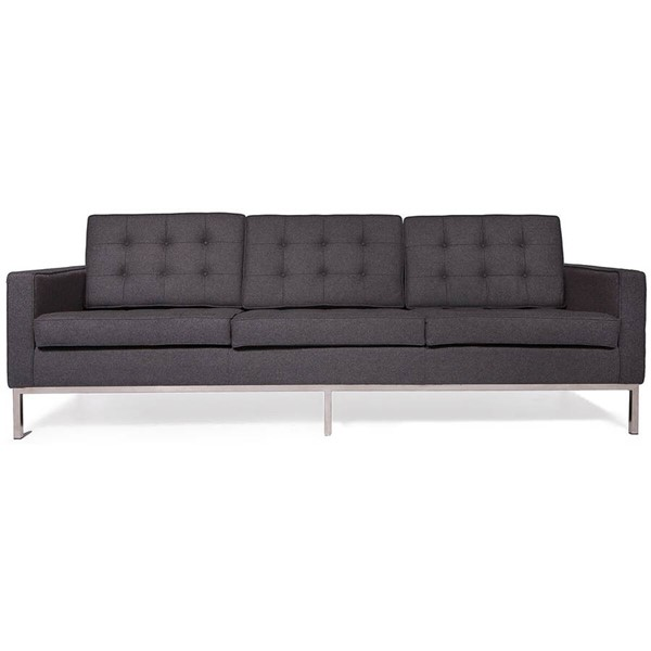 Design Edge Euston  Dark Grey Fabric Sofa DE-22369011