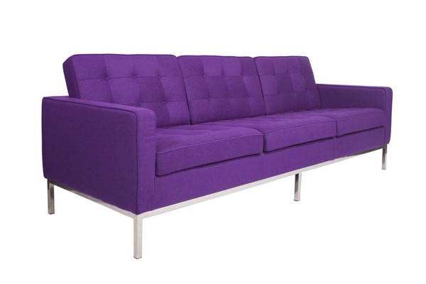 LeisureMod Florence Purple Fabric Sofa LSM-FS90PRW