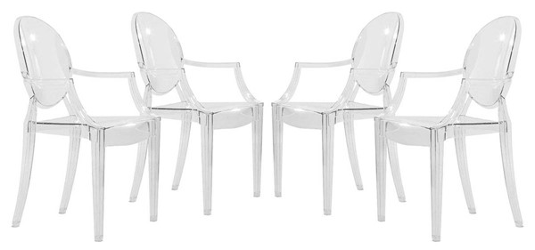 Design Edge Corowa  4 Acrylic Chairs DE-22819167