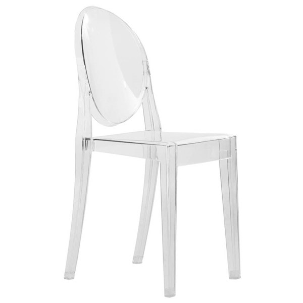 Design Edge Geurie 4  Clear Transparent Acrylic Modern Chairs DE-22369772