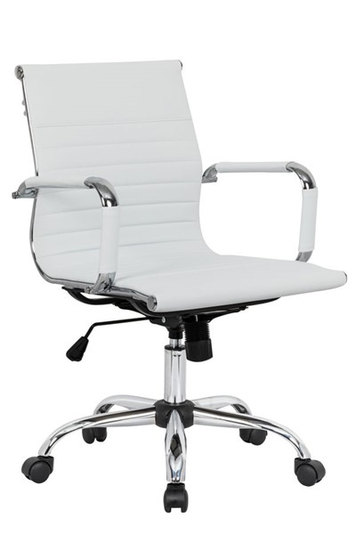 Design Edge Faulconbridge  White Leatherette Office Chair DE-22994630