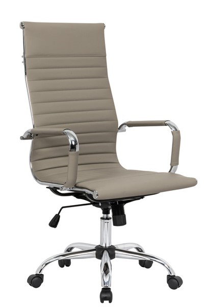 Design Edge Faulconbridge  Tan Leatherette High Back Office Chair DE-22994670