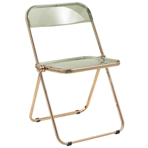 LeisureMod Lawrence Folding Chairs With Gold Frame LSM-LFG19-FLDG-VAR