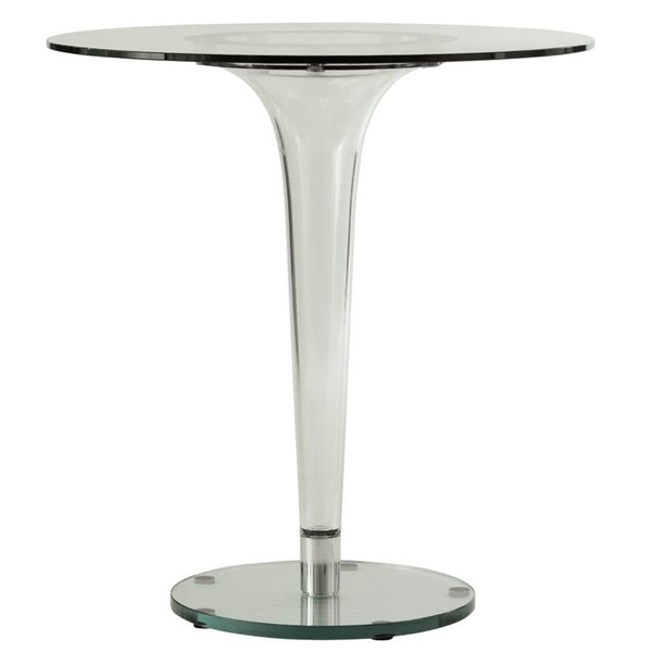 LeisureMod Lonia Glass Top Dining Table LSM-LT27CL