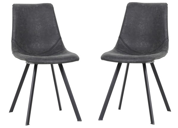 2 LeisureMod Markley Leather Dining Chairs LSM-MC182-DR-CH-VAR