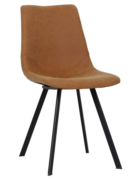 LeisureMod Markley Light Brown Leather Dining Chair LSM-MC18BR