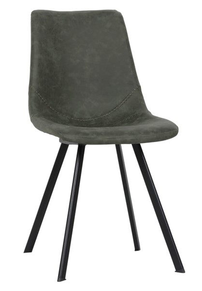 LeisureMod Markley Olive Green Leather Dining Chair LSM-MC18G
