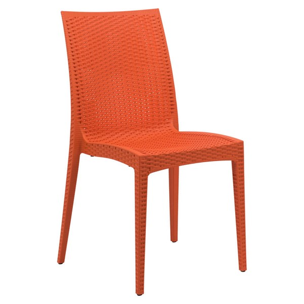 Design Edge Henty  Orange Mace Indoor Outdoor Dining Chair DE-22370989