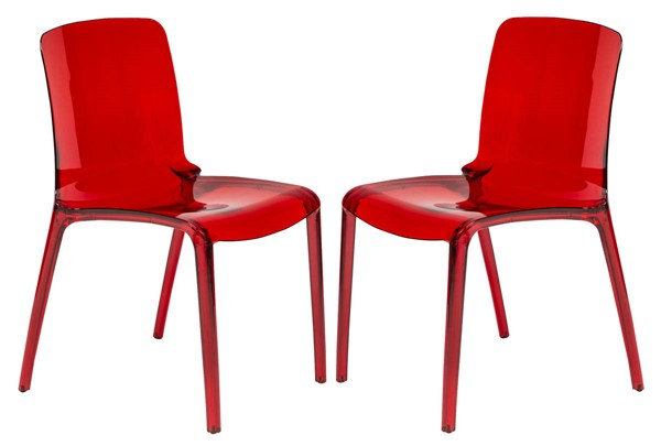 2 LeisureMod Murray Red Dining Chairs LSM-MC20R2