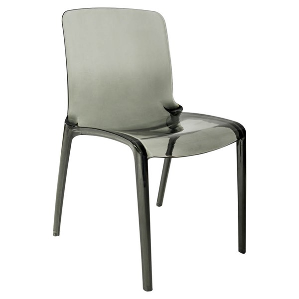 LeisureMod Murray Black Plastic Dining Chair LSM-MC20TBL
