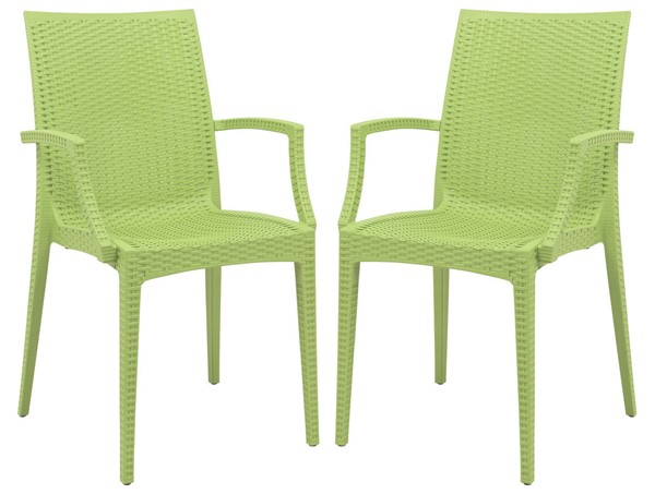 Design Edge Henty 2  Green Mace Indoor Outdoor Arm Chairs DE-22371239