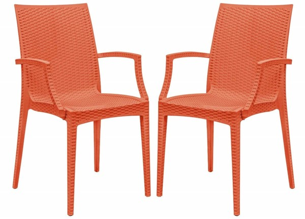 Design Edge Henty 2  Orange Mace Indoor Outdoor Arm Chairs DE-22820389