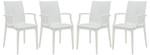 LeisureMod Weave 4 Arm Chairs LSM-MCA19-DR-CH-VAR3