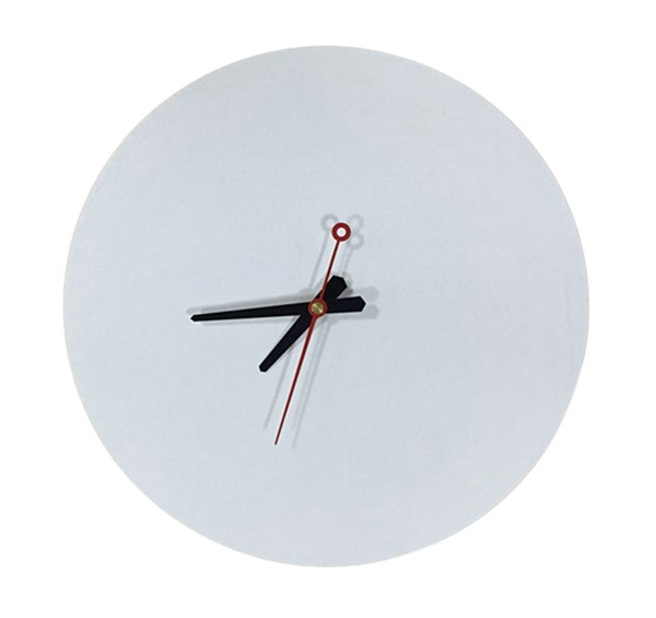 LeisureMod Manchester White Round Wall Clock LSM-MCLR11W
