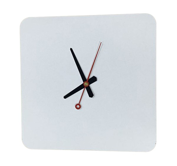 LeisureMod Manchester White Square Wall Clock LSM-MCLS9W