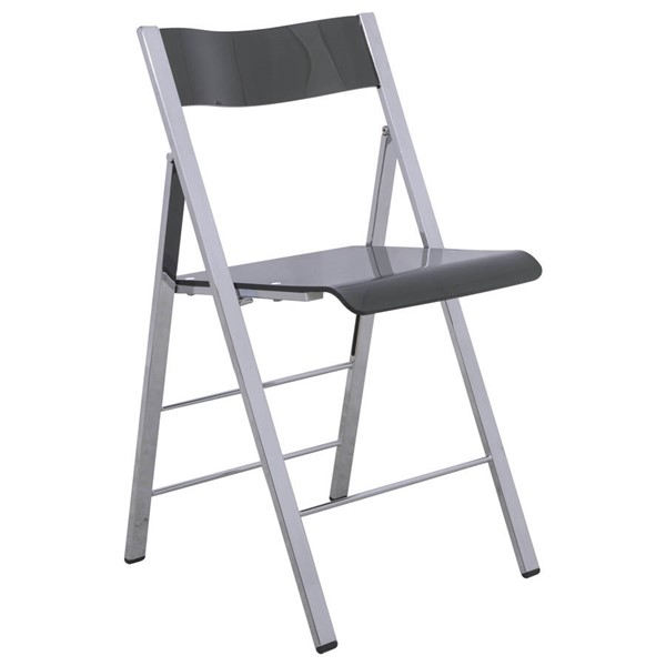 LeisureMod Menno Black Folding Chair LSM-MF15TBL