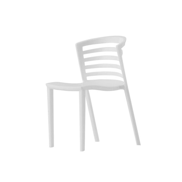 LeisureMod Venezia White Mini Accessory Chair LSM-MV5W
