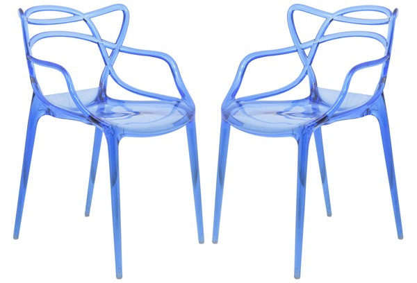 Design Edge Gladstone 2  Blue Wire Design Chairs DE-22369937
