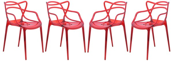 Design Edge Gladstone 4  Red Wire Design Chairs DE-22369967