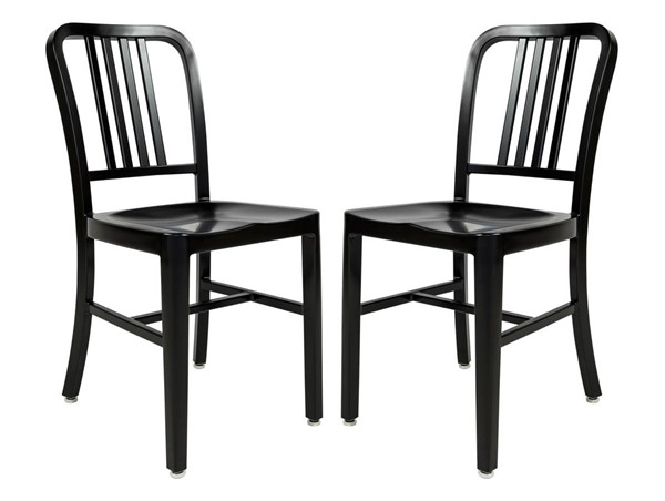 2 LeisureMod Alton Black Side Dining Chairs LSM-NA15BL2