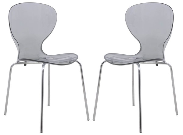 Design Edge Greenwell Point 2  Transparent Black Side Chairs DE-22370314