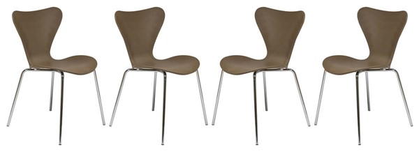 Design Edge Greenwell Point 4  Taupe Side Chairs DE-22820194