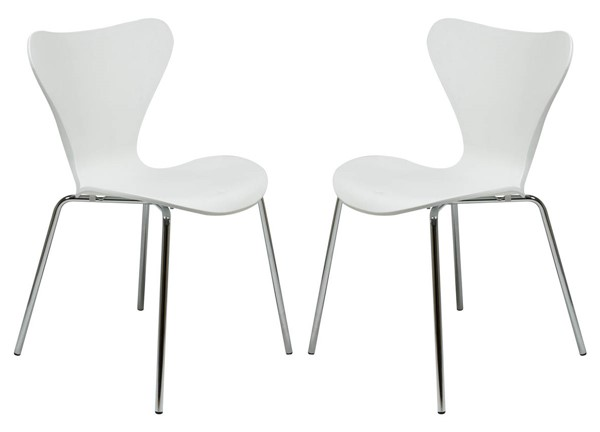Design Edge Greenwell Point 2  White Side Chairs DE-22820184