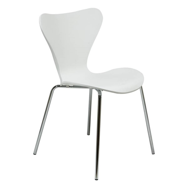 Design Edge Greenwell Point  White Plastic Side Chair DE-22820164