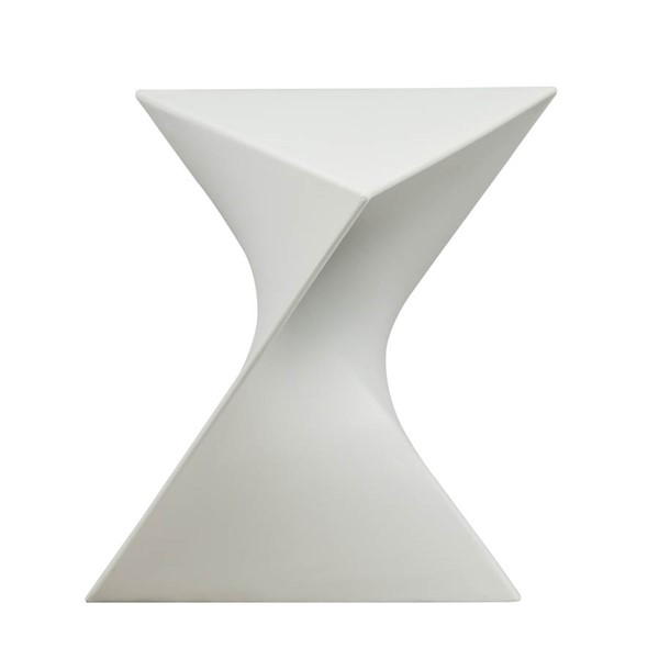 Design Edge Greta  White Vanity Side Table DE-22370497
