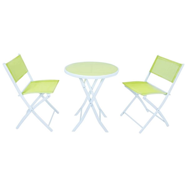 Design Edge Coonabarabran  Green Folding Table and Chairs Set DE-23417143